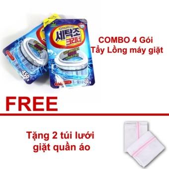 COMBO 4 Gói Bột tẩy vệ sinh lồng máy giặt Giúp bạn giặt đồ sạch sẽhơn Hàn Quốc - Tặng 2 túi lưới giặt quần áo - 8661238 , OE680WNAA6794IVNAMZ-11440348 , 224_OE680WNAA6794IVNAMZ-11440348 , 250000 , COMBO-4-Goi-Bot-tay-ve-sinh-long-may-giat-Giup-ban-giat-do-sach-sehon-Han-Quoc-Tang-2-tui-luoi-giat-quan-ao-224_OE680WNAA6794IVNAMZ-11440348 , lazada.vn , COMBO 4 Gó