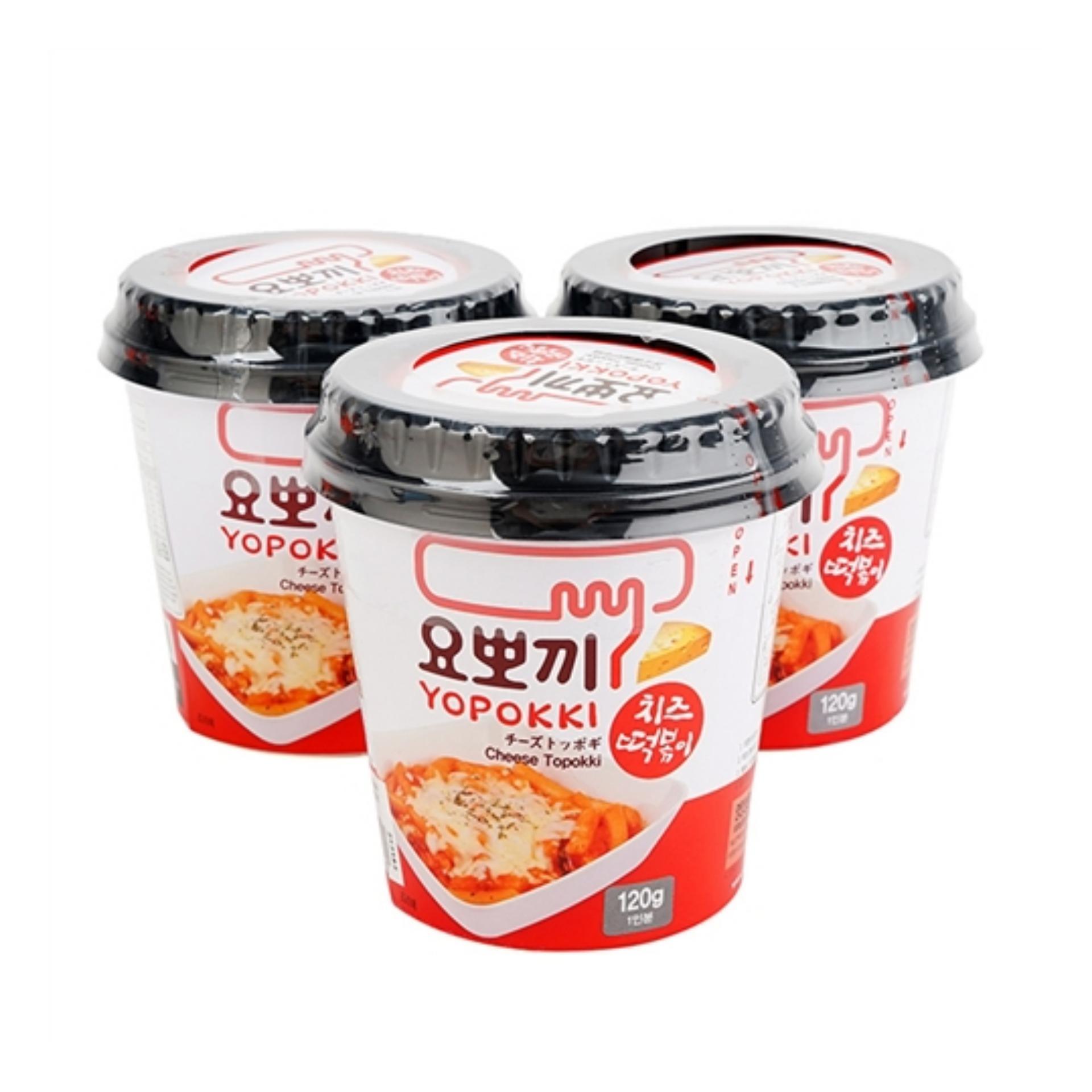 Combo 5 Hộp Bánh Gạo Yopokki Ăn Liền Hàn Quốc 120g ( Tự Chọn Vị)