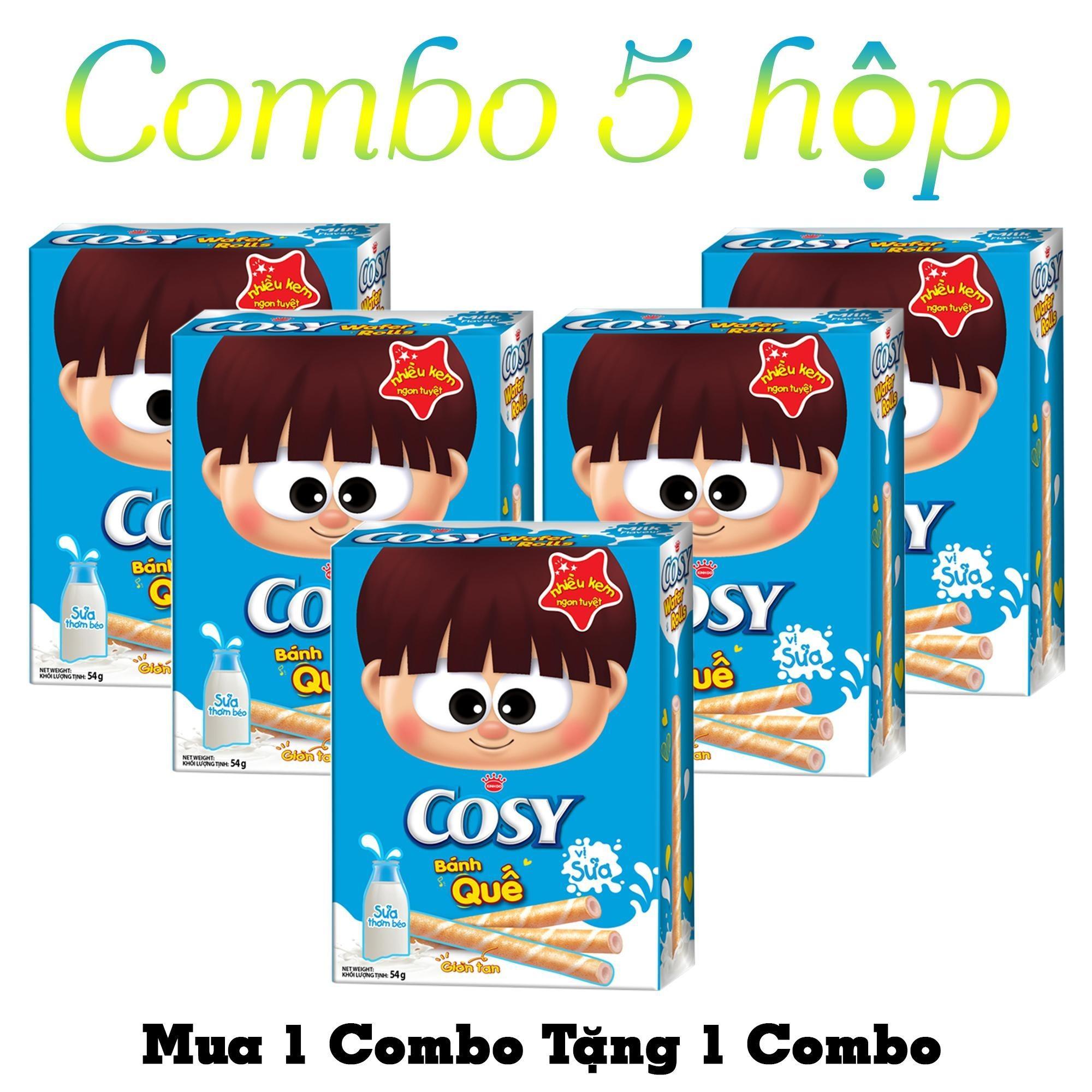 Giá bán Combo 5 Hộp Bánh Quế Cosy Kinh Đô Vị Sữa (54g)