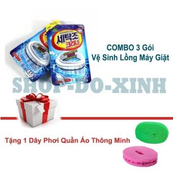 COMBO Bộ 3 Gói Bột tẩy lồng vệ sinh sạch sẽ máy giặt Hàn Quốc - Tặng 1 dây phơi quân áo thông minh - 8661330 , OE680WNAA6EM9NVNAMZ-11810754 , 224_OE680WNAA6EM9NVNAMZ-11810754 , 175000 , COMBO-Bo-3-Goi-Bot-tay-long-ve-sinh-sach-se-may-giat-Han-Quoc-Tang-1-day-phoi-quan-ao-thong-minh-224_OE680WNAA6EM9NVNAMZ-11810754 , lazada.vn , COMBO Bộ 3 Gói Bột tẩ