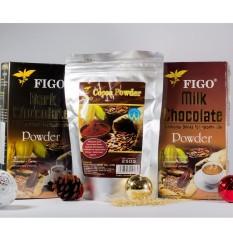 Combo Bột cacao nguyên chất 250g + Bột dark Chocolate 80% 250g + Bột milk chocolate 60% 250g