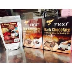 Combo Bột cacao nguyên chất Figo 500gram+Bột Socola 80% 500gram+Bột Socola 60% 500gram Figo