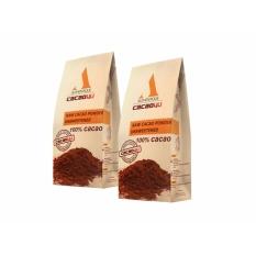 Bộ đôi túi Cacao4u nguyên chất không đường 220g Nguyên chất, Không pha trộn, Không hương liệu, giảm cân hiệu quả