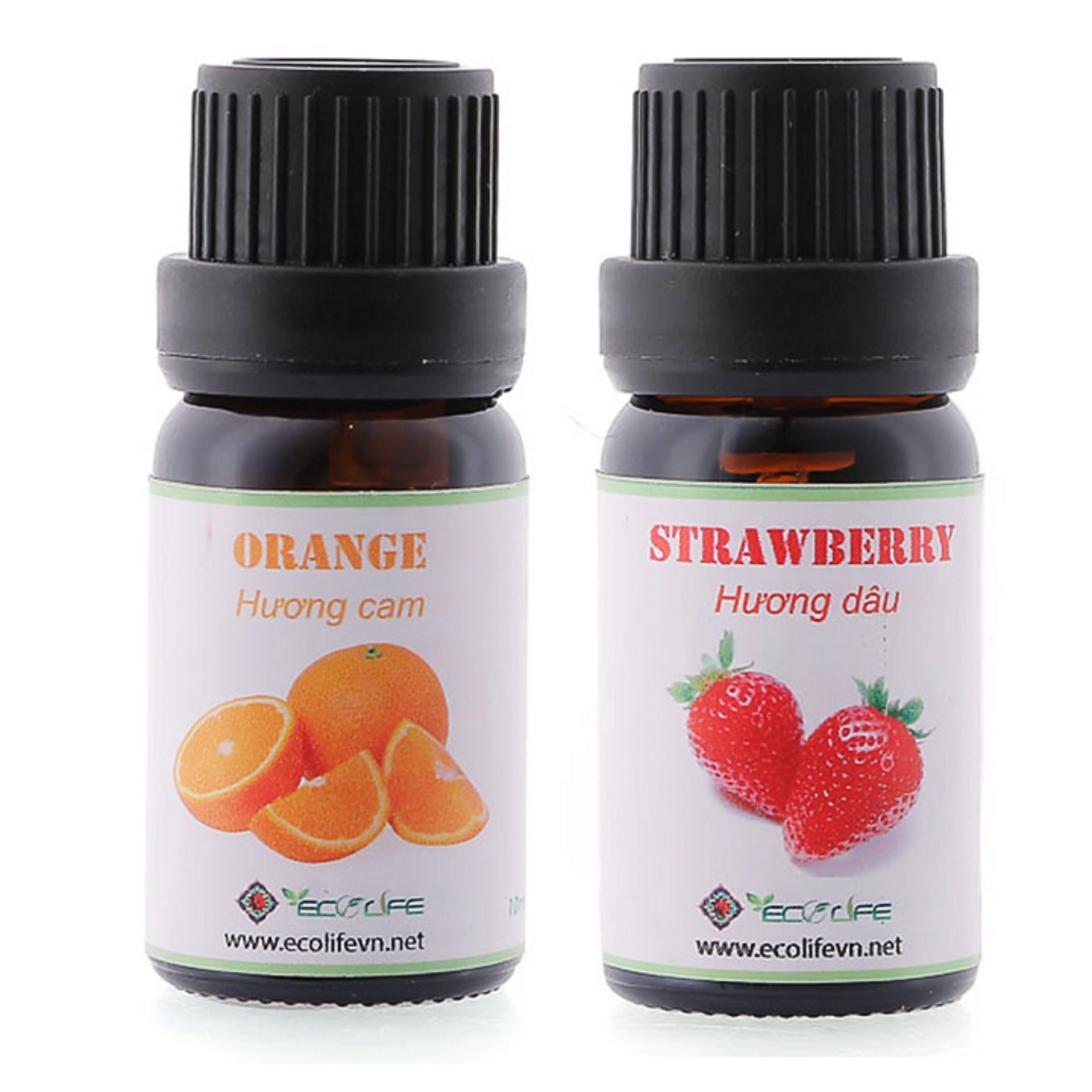 Tư vấn mua Combo mùi dâu và mùi cam (orange) Ecolife
