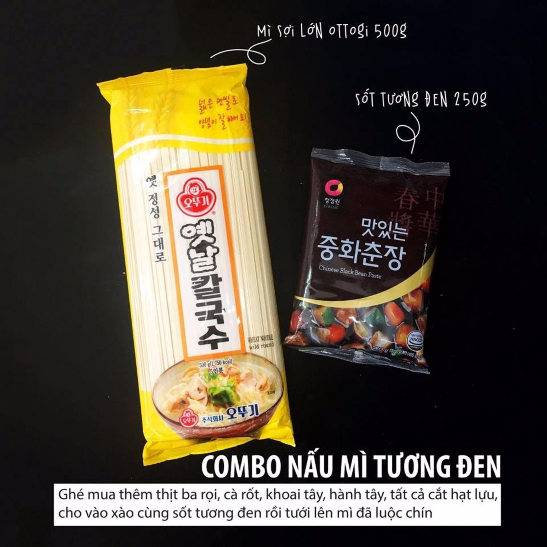 Bảng Báo Giá Combo Sốt Tương Đen 250g + Mì Sợi Lớn 500g Hàn Quốc
