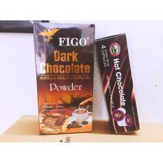 Combo túi 250gram Bột Socola 80% cacao và 1 hộp Bột Hot Chocolate Figo 4 viên/ 60gram ) Figo