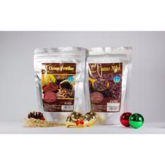 Combo túi Cacao nibs 250g và Bột cacao nguyên chất 250g làm bánh Figo