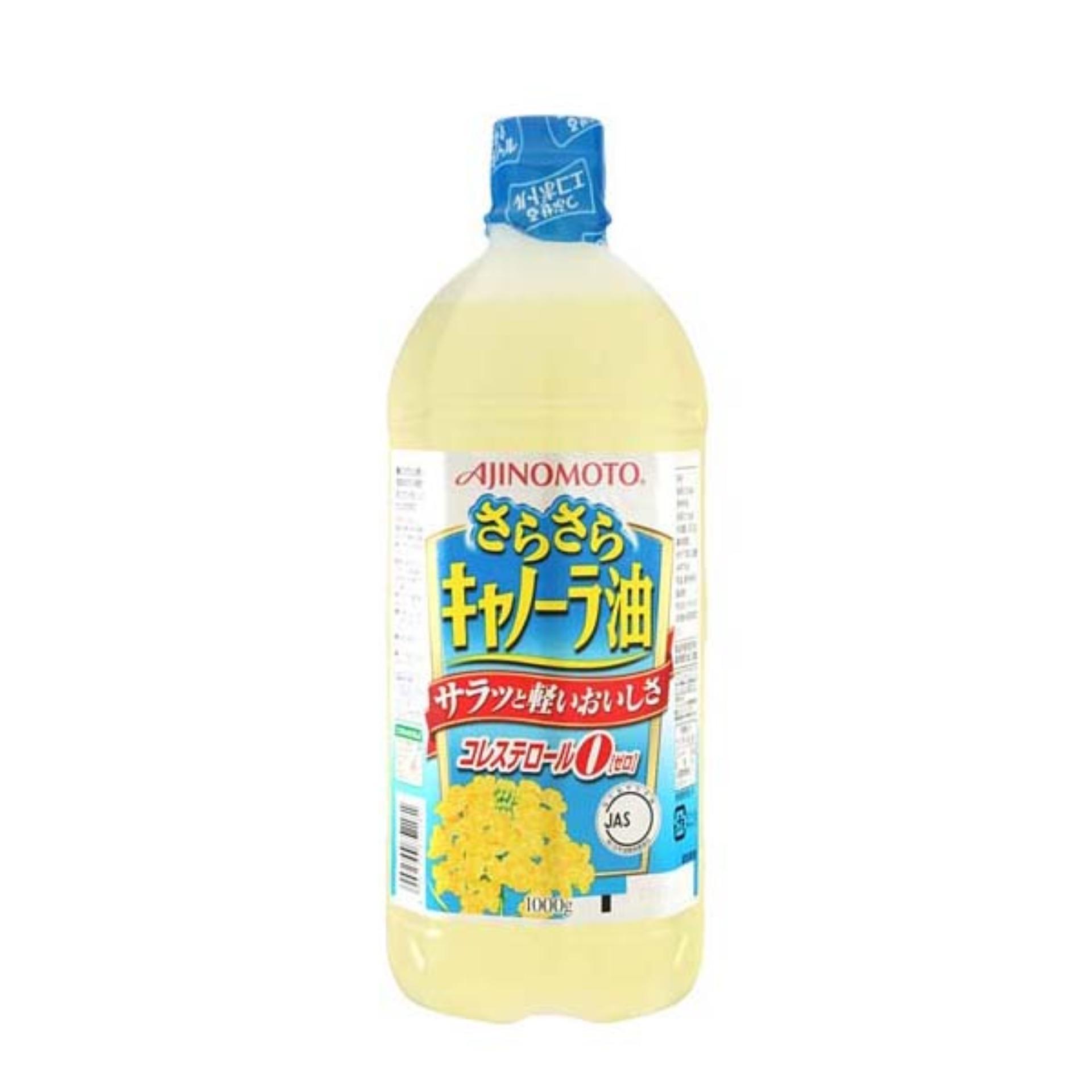 Tư vấn mua Dầu ăn hoa cải Ajinomoto nội địa Nhật Bản (1000ml)