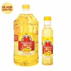 Báo Giá Dầu ăn Neptune Gold 2L + Tặng 1 chai dầu ăn Neptune Gold 0.4L