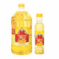 Giá Khuyến Mại Dầu ăn Neptune Gold 2L + Tặng 1 chai dầu ăn Neptune Gold 0.4L