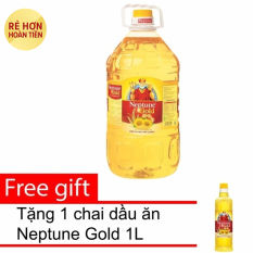 Giá Niêm Yết Dầu ăn Neptune Gold 5L + Tặng 1 chai dầu ăn Neptune Gold 1L