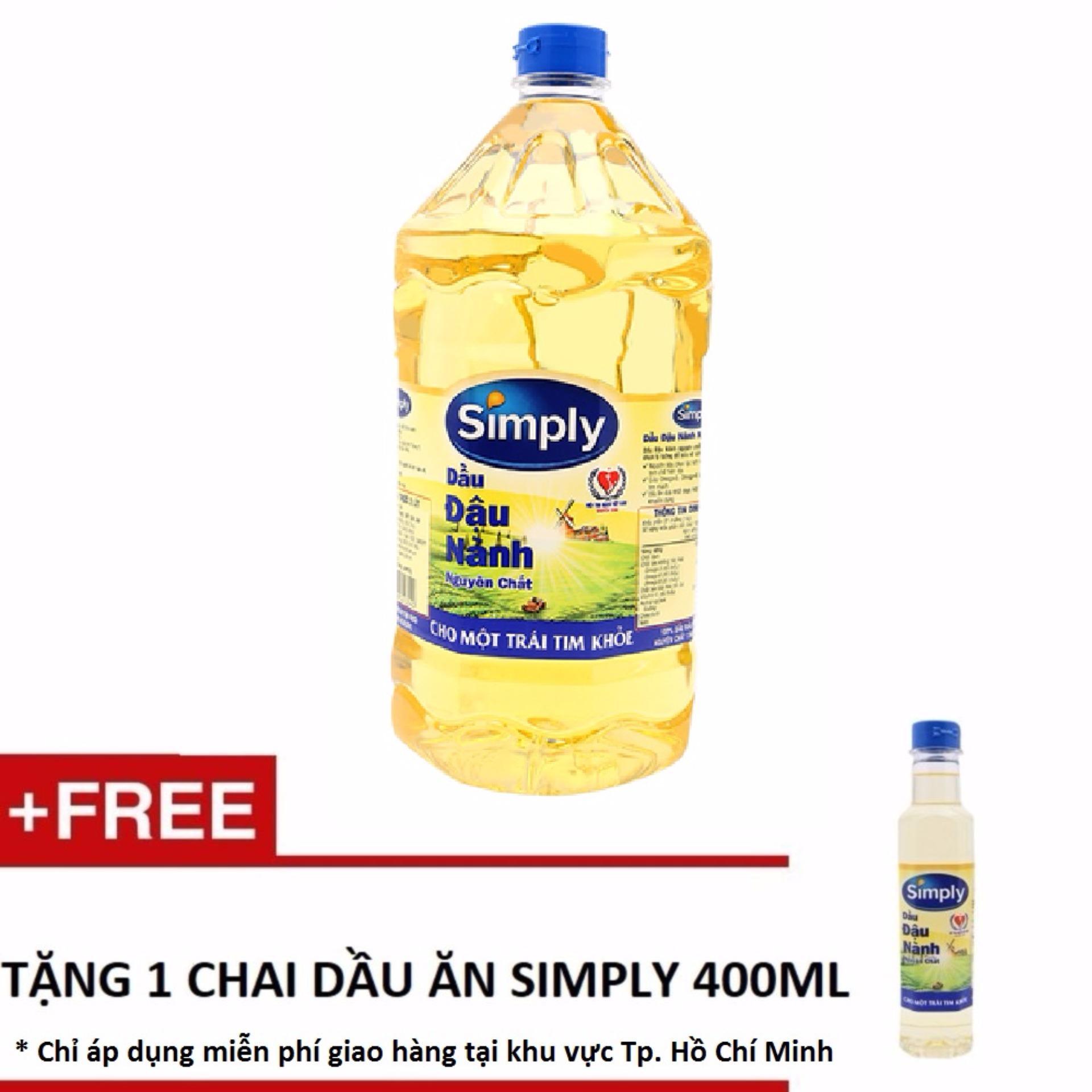 Tư vấn mua Dầu ăn Simply đậu nành 2L + Tặng 1 chai dầu ăn Simply 400ml