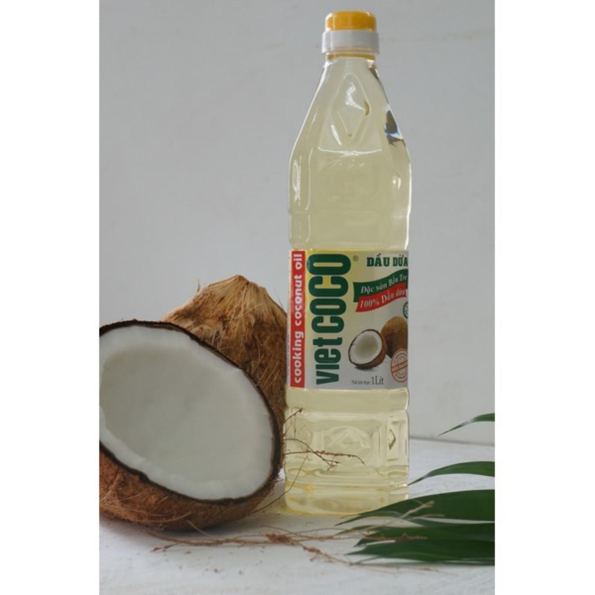Giá bán Dầu dừa nguyên chất tinh luyện Thành Vinh chai 1L
