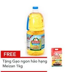 Dầu thực vật cao cấp Meizan 2L tặng Gạo ngon hảo hạng Meizan 1kg