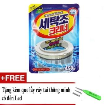 Gói bột tẩy vệ sinh lồng máy giặt 450g + Tặng kèm 01 que lấy ráy tai thông minh có đèn LED
