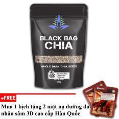 Hạt Chia đen Australia Black Bag Chia 500g + tặng 2 mặt nạ cao cấp Hàn Quốc [SuPhat Shop]