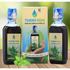 Hộp 2 chai x 200ml nước cai thuốc lá, thuốc lào thảo dược cao cấp Thanh Nghị chính hãng