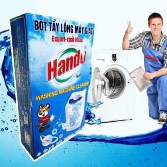 Hộp 2 gói tẩy lồng máy giặt Hando cho máy cửa trước và cửa sau siêusạch GD11