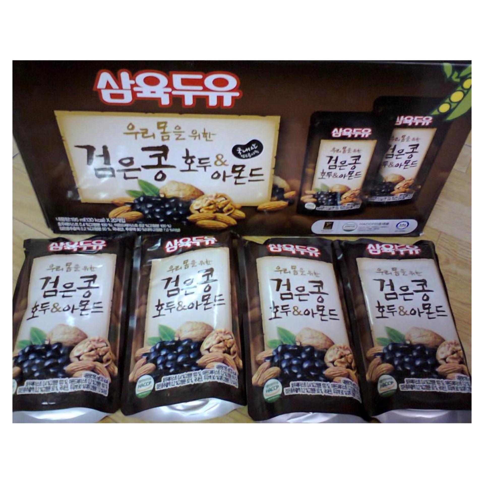 Hộp 20 Gói Nước Đậu Đen Óc Chó Hàn Quốc 195ml