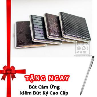 Hộp đựng thuốc lá 20 điếu vỏ da F623 (Đen) + Tặng bút cảm ứng kiêmbút ký cho smartphone và tablet (bạc) - 8281349 , NH110WNAA1SWR8VNAMZ-3030057 , 224_NH110WNAA1SWR8VNAMZ-3030057 , 152600 , Hop-dung-thuoc-la-20-dieu-vo-da-F623-Den-Tang-but-cam-ung-kiembut-ky-cho-smartphone-va-tablet-bac-224_NH110WNAA1SWR8VNAMZ-3030057 , lazada.vn , Hộp đựng thuốc lá 20 đi