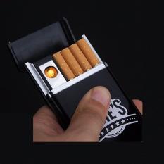 Hộp đựng thuốc lá kèm bật lửa và cáp sạc sành điệu