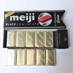Hộp 10 Viên Socola Đen Nhật Bản Meiji Black Chocolate