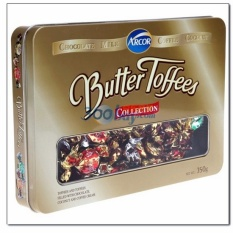 Kẹo Arcor Butter Toffees hỗn hợp – hộp thiếc 350gr
