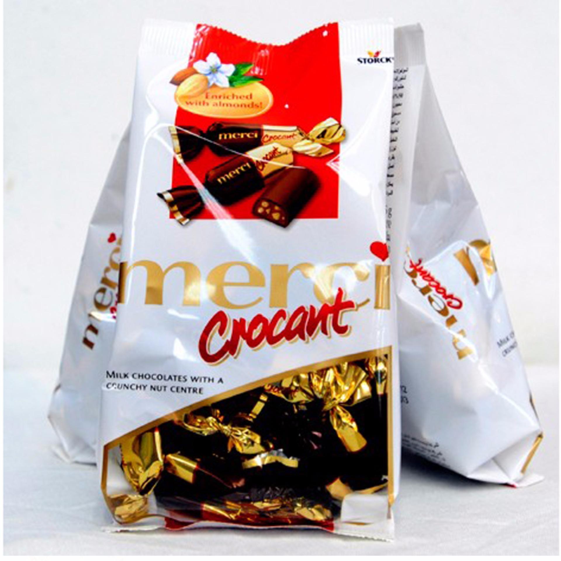Mẫu sản phẩm Kẹo SCL Merci Crocant gói 125g