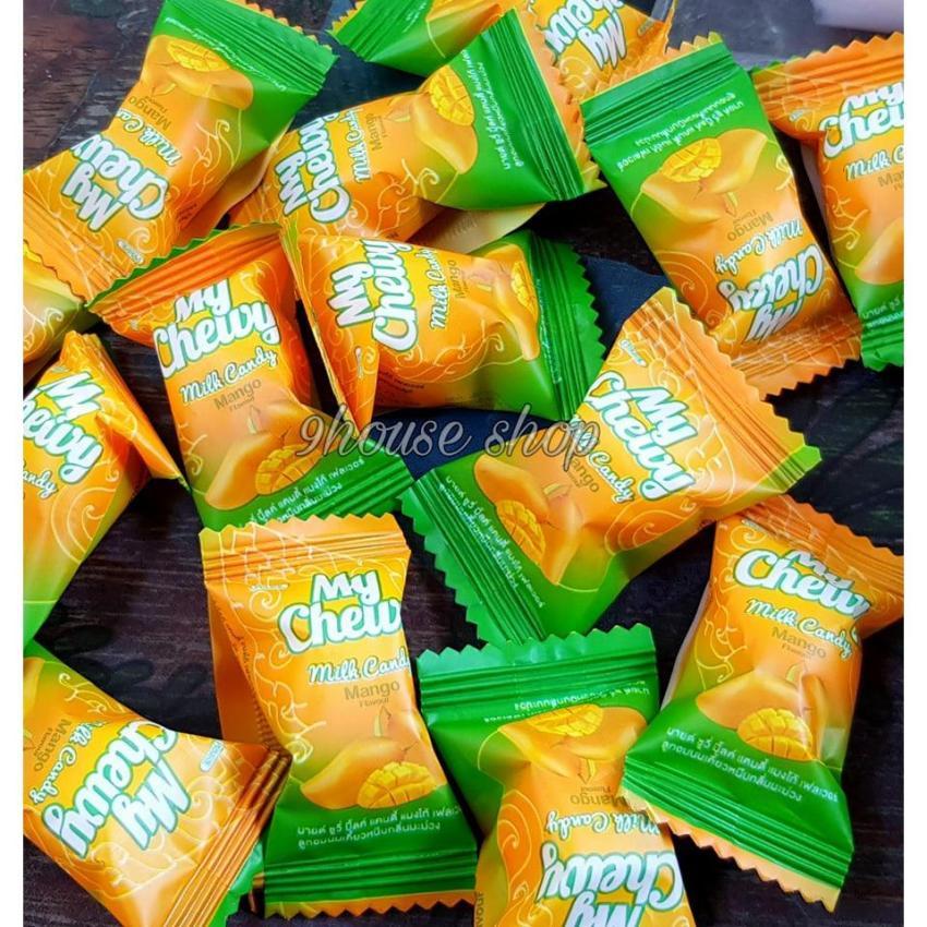 Kẹo sữa mềm My Chewy Milk Candy Mango (Mã Vạch Thái) 380g/100 viên =