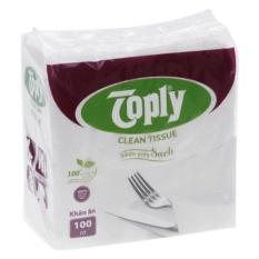 Khăn giấy ăn Toply 100 tờ
