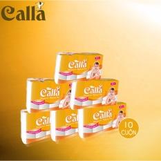Giá Sốc Khăn giấy em bé Calla 3 lớp x 10 cuộn, 225mm x 160mm