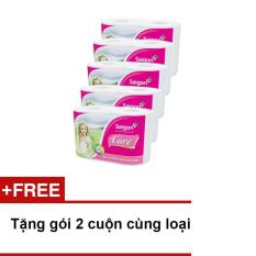 Lốc 10 cuộn giấy vệ sinh Sài Gòn Care 2 + Tặng gói 2 cuộn cùng loại