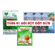 Mua 01 Gói Trà Xanh Thái Lan 200g + 03 Gói Bột Rau Câu Con Cá Dẻo (10G/Gói) TẶNG 01 GÓI BỘT CỐT DỪA 50G