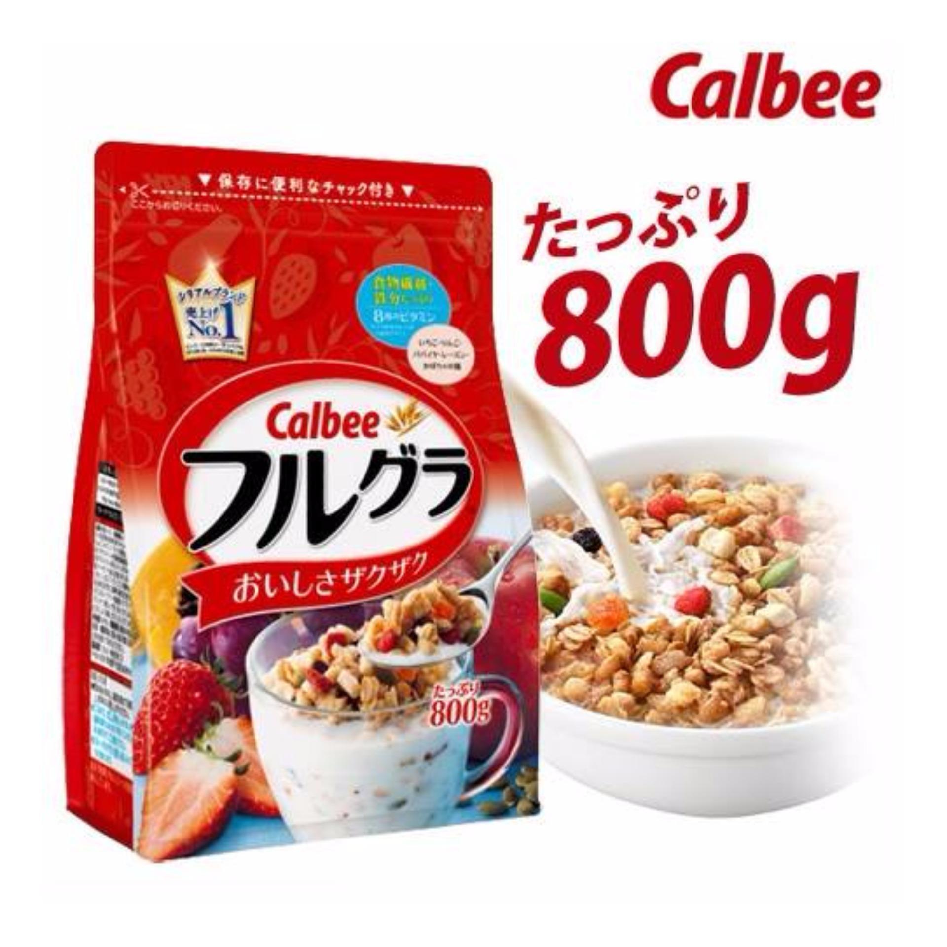 Date mới nhất 9.10.2018 Ngũ cốc Calbee Nhật Bản 800g