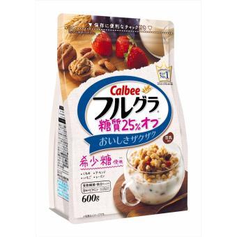 Ngũ cốc dinh dưỡng Calbee Nhật Bản (Óc Chó,Hạnh Nhân, dâu, nho khô, lúa mạch)