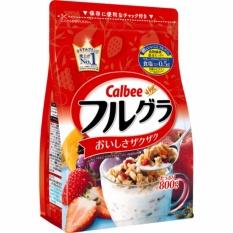 Ngũ cốc dinh dưỡng sấy khô dạng hạt cao cấp Calbee Fruit Granola Cereal 800g (date 11/2018)