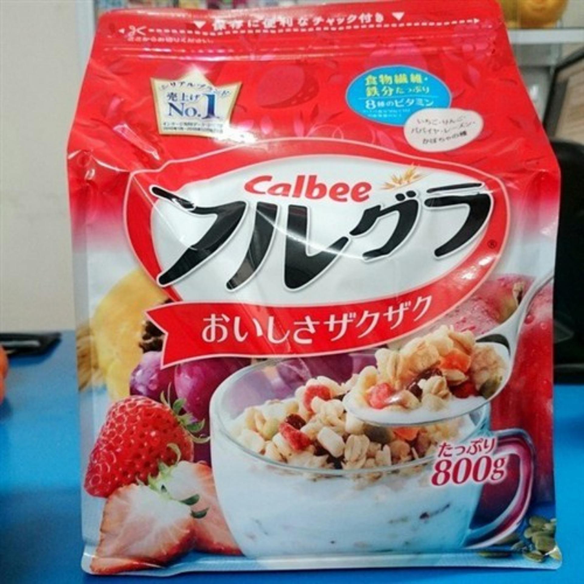 Ngũ cốc hoa quả Calbee Nhật Bản 800g