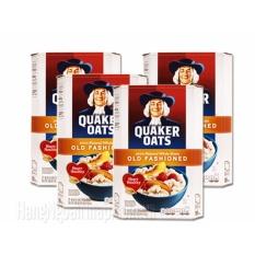 Nửa thùng yến mạch Quaker Oats 1 minutes (dạng cán vỡ) 4.52kg