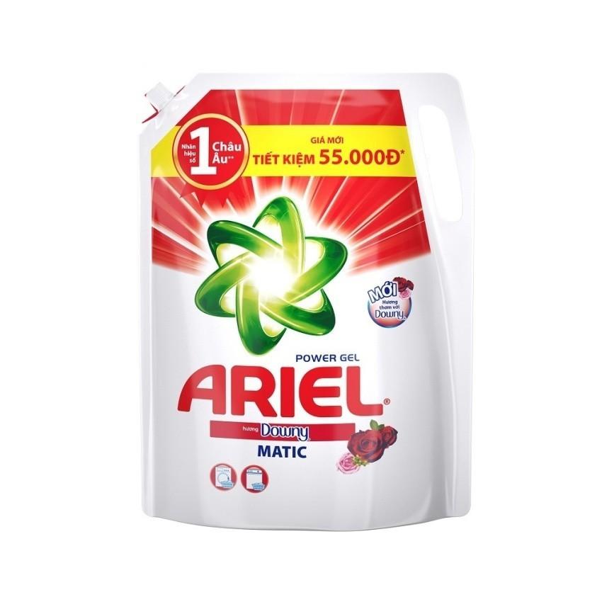 Nước giặt Ariel Matic Downy gel đậm đặc 2.4kg (Dạng túi)