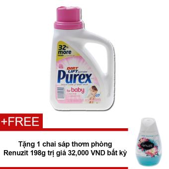 Nước giặt Purex For Baby 1.47L + Tặng sáp thơm phòng Renuzit bất kì 198g