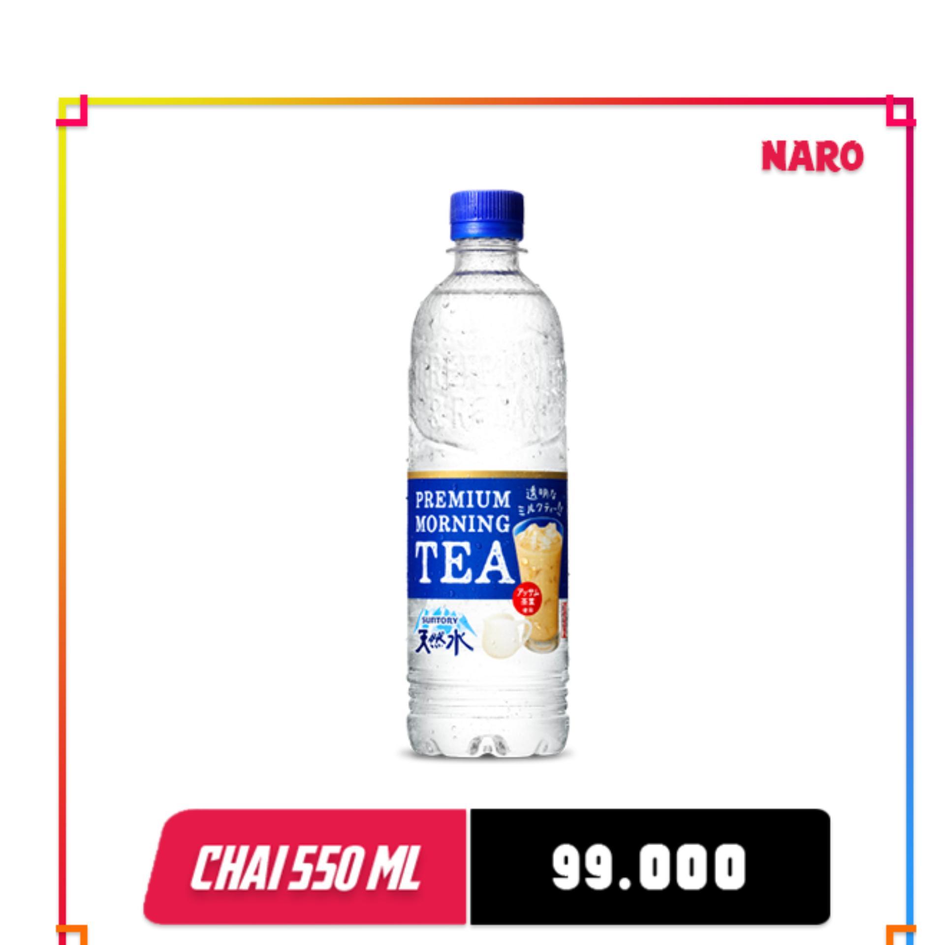 Nước lọc vị trà sữa Premium Morning Tea Suntory Nhật Bản – Chai 550ml