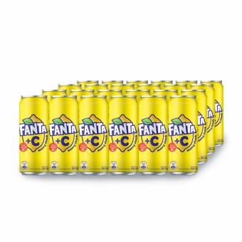 Nước ngọt có ga Fanta +C hương Chanh thùng 24 lon 330ml