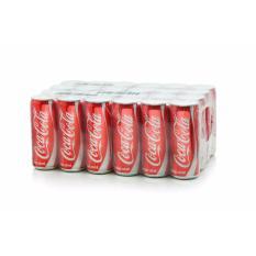 Nước ngọt Coca Cola sleek thùng 24 lon cao 330ml
