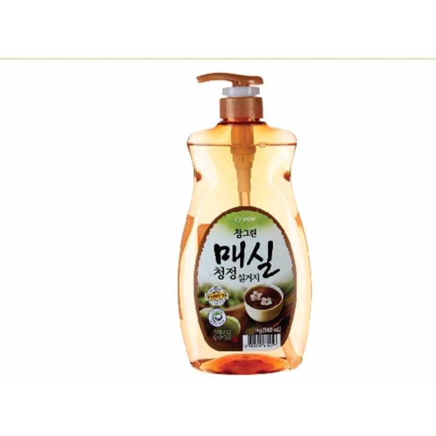 Hình ảnh Nước rửa các loại Rau Quả và Chén Bát CJ Lion Real Green tinh chất Quả Mơ