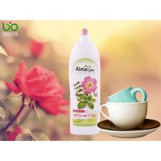 Nước rửa chén hương hoa hồng hữu cơ Almawin (1lit)