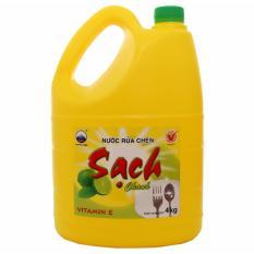Nước rửa chén Net Sạch Vitamin E hương Chanh can 4kg