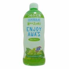 Nước rửa chén Nhật Bản Enjoy Awa's đậm đặc hương nho xạ - 400ml (dạng refill)