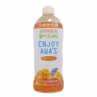 Nước rửa chén Nhật Bản Enjoy Awa's đậm đặc hương chanh - 400ml(loại refill)