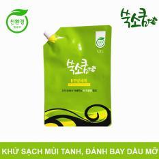 Nước rửa chén thiên nhiên tinh chất ngải cứu Ssooksoqoom túi 1.2L – nhập khẩu Hàn Quốc
