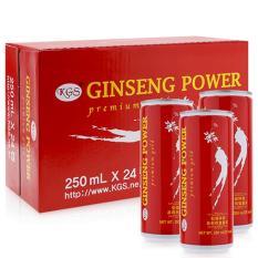 Nước tăng lực hồng sâm Ginseng Power KGS 250ml x 24 lon